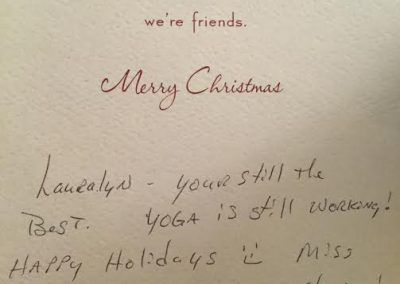 Xmas card from one of my soldiers